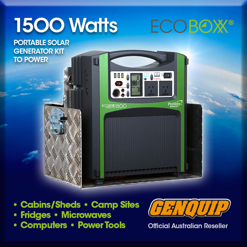 Ecoboxx Outback 1500 With 105ah Agm Battery Genquip